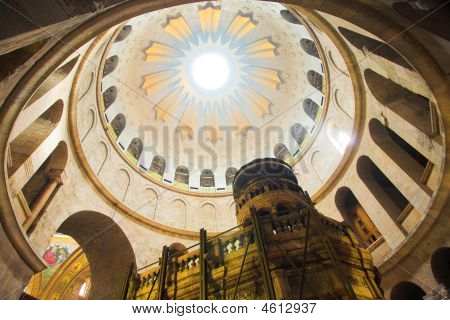 Dome In The Church Of The Holy Sepulchre, Jerusalem