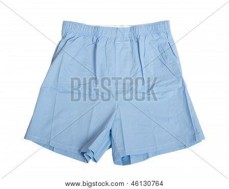 Man's Blue Underwear Isolated