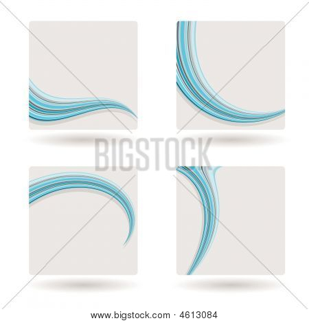 Template Blue Swish