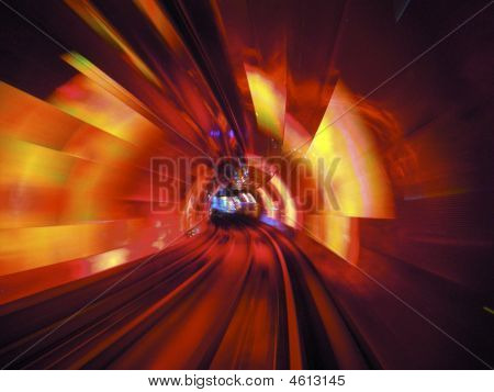 Light Show In The Huangpu Tunnel Shanghai