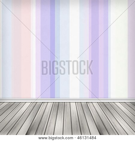 Empty Room, Interior With Wallpaper. High Resolution Texture Background.