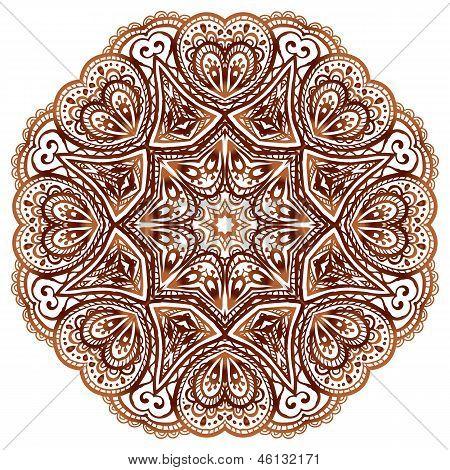 Ornate ethnic henna colors vector mandala