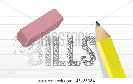 Erase Bills Concept Illustration Design