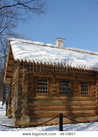 Russian Log Hut, Wooden Walls