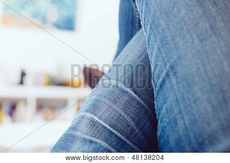 Woman Legs Crossed