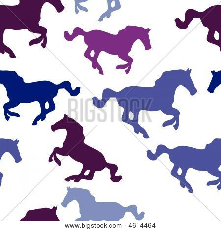 Seamless background with horses