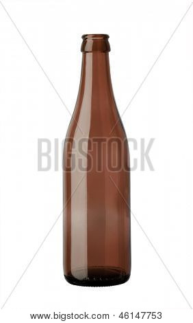 empty glass beer bottle