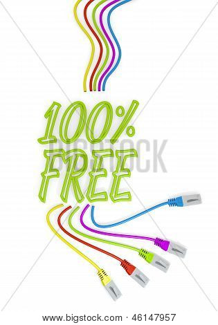 free icon with colourful network cable