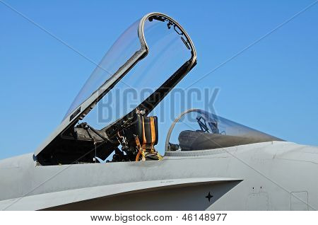 F-18 hornet fighter plane canopy