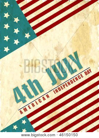 4th July, American Independence Day vintage background.
