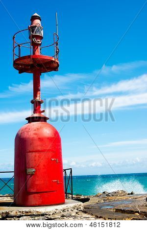 Small red lighthouse
