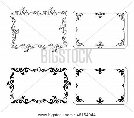 Abstract frames, set