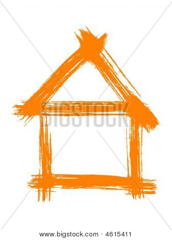 Orange Painted House