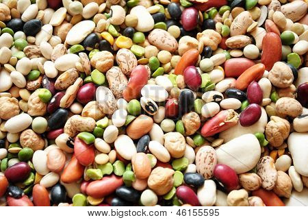 Background of Mixed Dry Beans