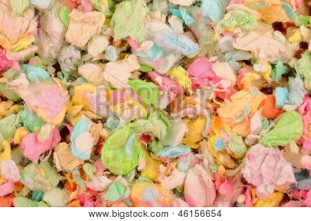colorful paper pet litter background