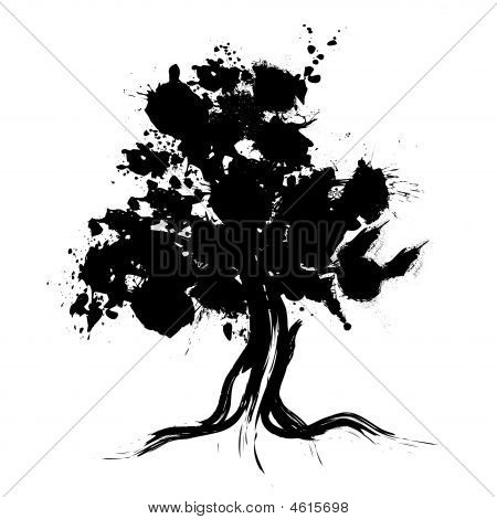 tree silhouette pictures. Abstract Tree Silhouette Stock