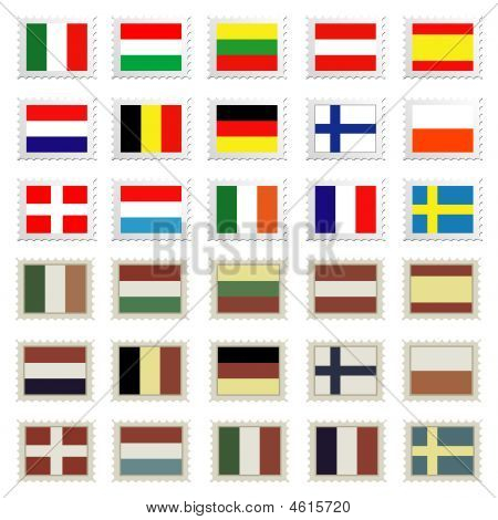 Flag Stamps Set