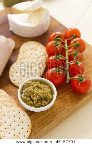 Olive Pate And Crackers