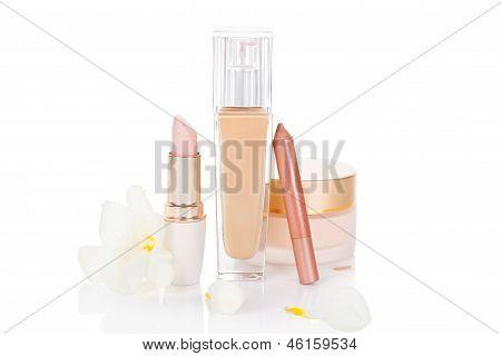 Beige Cosmetics Still Life.