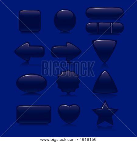Dark Blue Buttons