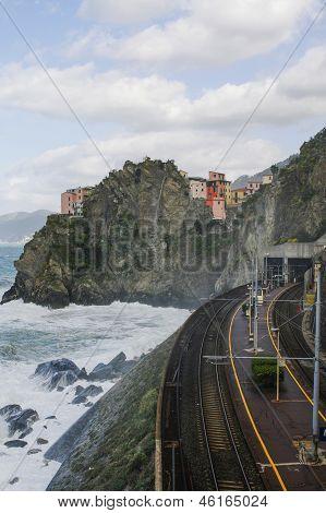 Trainstation In Manarola Italy