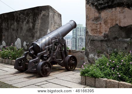 Antique cannon in Macau