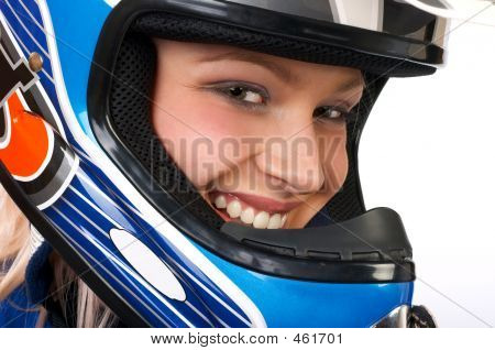Happy Pretty Biker.