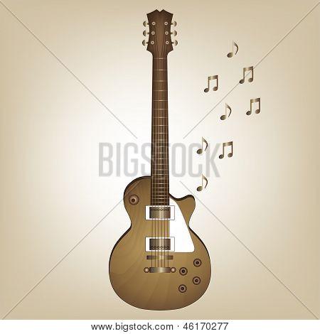 Holz Elektro-Gitarre