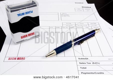 Sign invoice