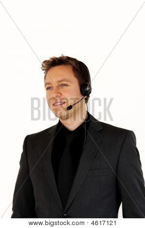 Sales Executive Using A Headset