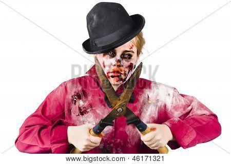 Zombie Gardener With Shears