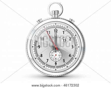 Chronometer With White Dial