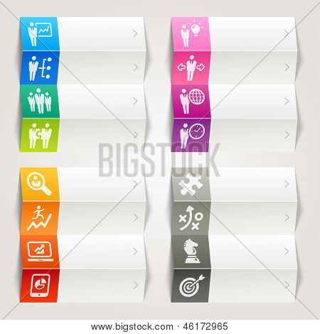 Rainbow - Business strategy and management icons / Navigation template