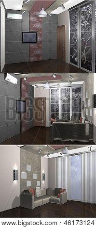 3D Childs bedroom