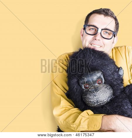 Big Male Goof Cuddling Toy Gorilla. Comfort Zone