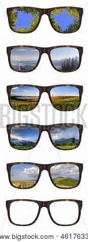 Trendy Sunglasses With Beautiful Landscape