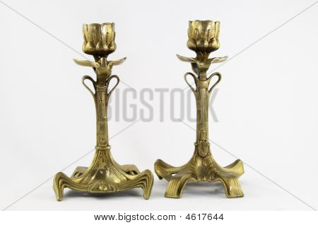 Art Nouveau Candle Sticks