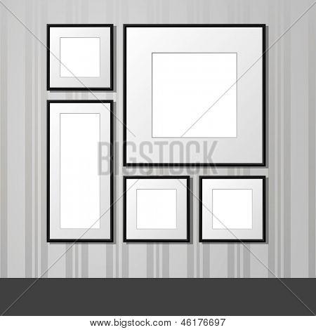 Frames op de muur