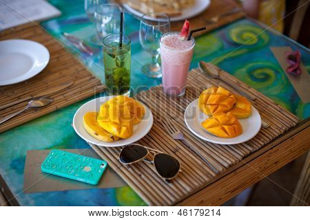 Philippino Breakfast With Mango