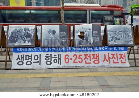 : Wall for 50th anniversary of the end of the Korean