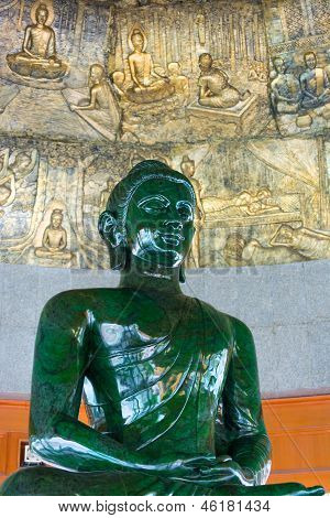 World Biggest Jade Buddha In Wat Dhammamongkol, Thailand.