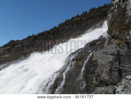 Nugget Falls at Juneau Alaska