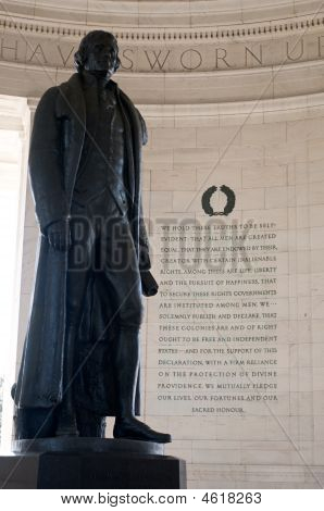 Statue Of Thomas Jefferson In Washington Dc