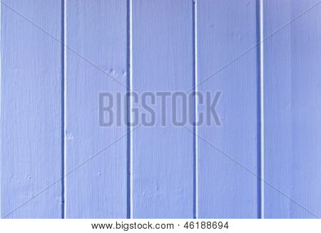 Wood Panelling Painted Blue