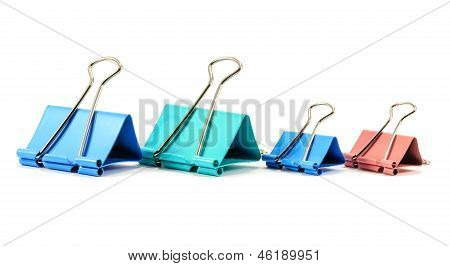 Paperclips Isolated On White Background