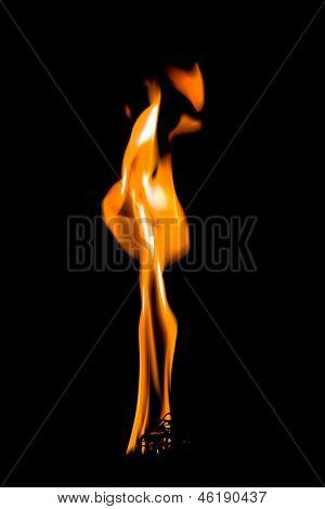 Llama de la vela de quema