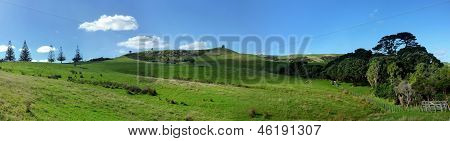 Panoramic hill landscape