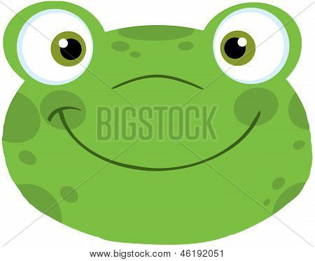 Cute Frog Smiling Head