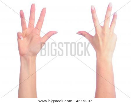 Female Hands Counting
