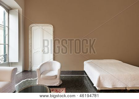 beautiful interior of hotel, view bedroom